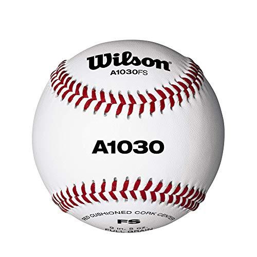 Wilson WTA1030BFS Pelotas de beisbol, A1030 FLAT SEAM, Blanco, 1 unidad