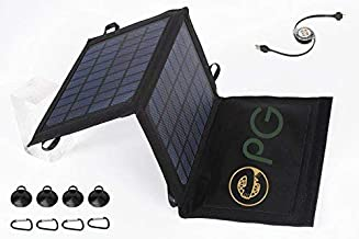 ePGes Solar Charger for Charging of Power-Banks, Cell Smart Phones Tablets and Media Devices: Foldable, Compact, Portable. 7W, 5V, 1A