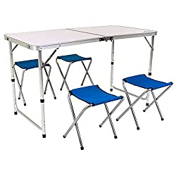 Camping buyer's guide - foldable table with stools for camping