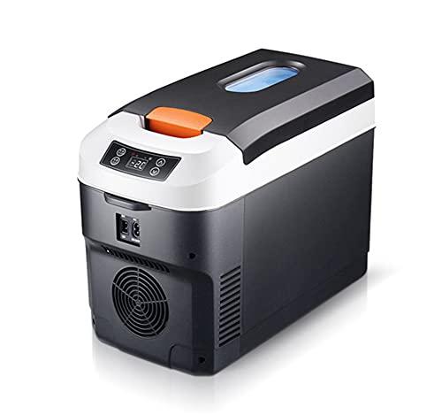 WUQIAO Mini Caja fría y Caliente del hogar del refrigerador del Coche 10L con enfriamiento Dual, Pantalla táctil Elegante, Comida Caliente