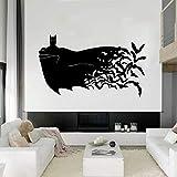 Tianpengyuanshuai Etiqueta de la Pared del murciélago Etiqueta de Vinilo Dormitorio de los niños decoración del hogar Mural cómico 45X63cm