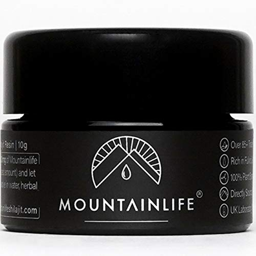 Mountainlife Natural Shilajit Resin | UK Lab Tested | 10g 1½ Month Supply | Vegan Accredited | Herbal & Mineral Superfood | Miron UV Protected | Rich in Fulvic & Amino Acids, Minerals, Vitamins