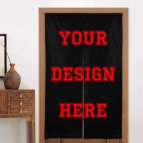 Personalized Custom Doorway Curtain Noren Add Your Photo Name Quote Door Way Curtain Panel, Room Dividers