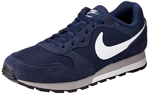 Nike - MD Runner 2 - Color: Azul marino-Blanco-Gris - Size: 43.0