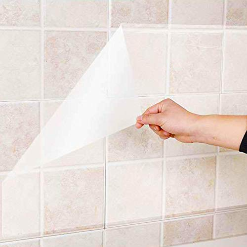 1 unids protector de pared transparente a prueba de aceite pegatina de pared papel pintado de cocina Backsplash película de vinilo autoadhesivo transparente rollo extraíble para armarios