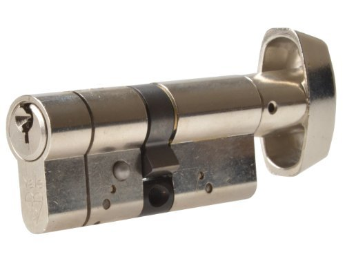 Yale Locks As4040tpb Cylindre à Bouton Anti-claquement 40/40 (80 mm) en Laiton Poli