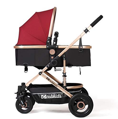 2 in 1 Goedkope Lichtgewicht 4 Wielen kinderwagens Kinderen van Geboorte Paraplu Baby Kinderwagens voor Jongens Meisjes Peuters Pasgeboren kinderwagens