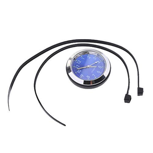 Shiwaki wasserdichte Uhr Uhr Thermometer Hygrometer Für Fahrrad Lenker - Uhr - Blau