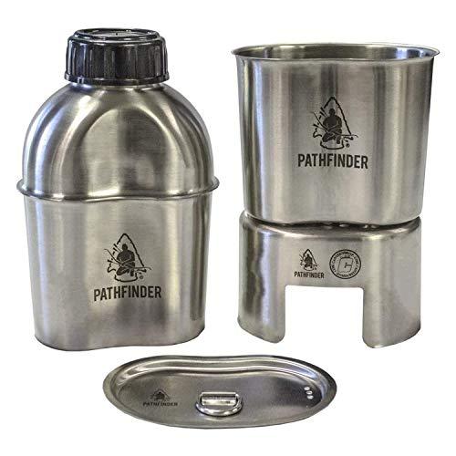 Pathfinder Edelstahl-Kochgeschirrset mit Molle-Tasche