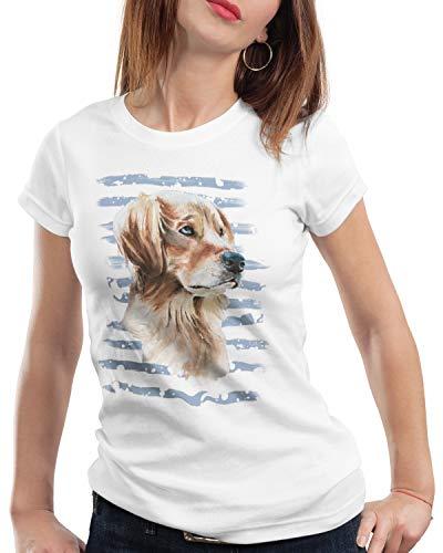 style3 Golden Retriever Damen T-Shirt Hundeliebhaber züchter Sommer, Größe:L