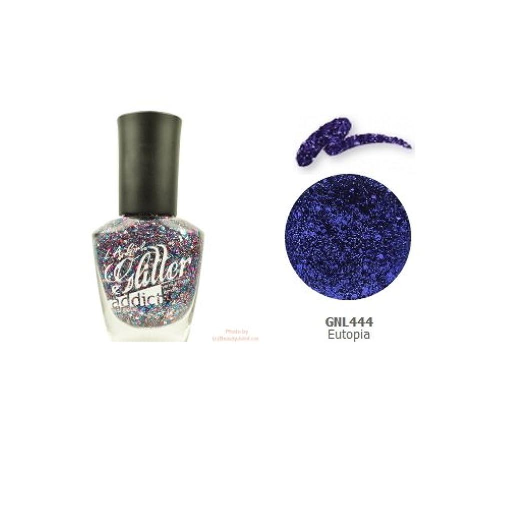 素人上流のオアシス(6 Pack) LA GIRL Glitter Addict Polish - Eutopia (並行輸入品)