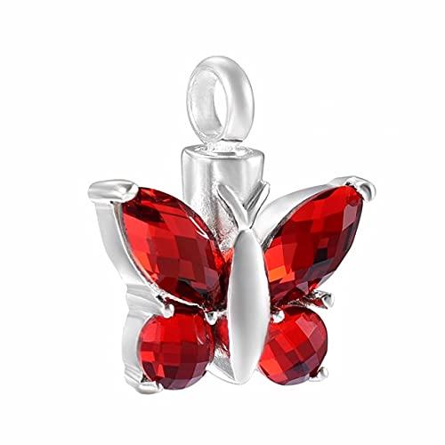TIANZXS Elegante Collar con Colgante de urna de Mariposa para Cenizas, joyería de cremación de Recuerdo para Mujeres, Hombres, Soporte para Cenizas para Mascotas 5