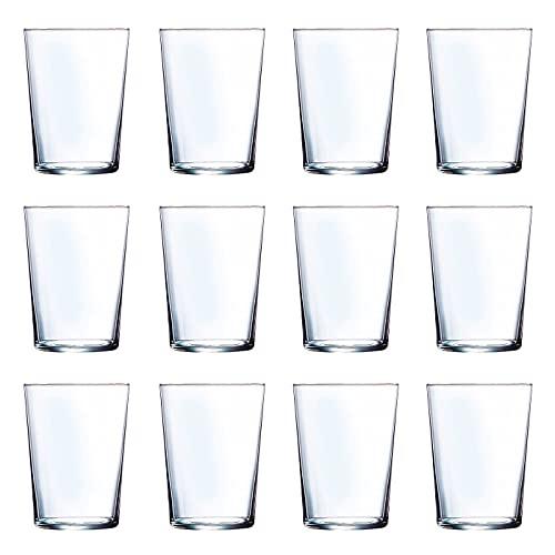 """Luminarc - Juego de 12 vasos de cristal 53 cl, modelo""""Ruta"""", pack 12 vasos para agua, bebidas, 12,3 x 8,8 cm, ligeros, aptos para lavavajillas"""
