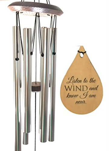 Gifts of COMFORT Memorial TOP Wind Chime Teardrop PRIME Rush Shipping for Funeral Loss in Memory of Loved One Silver Wind Chime for Memorial Garden Remembering a Child stillborn