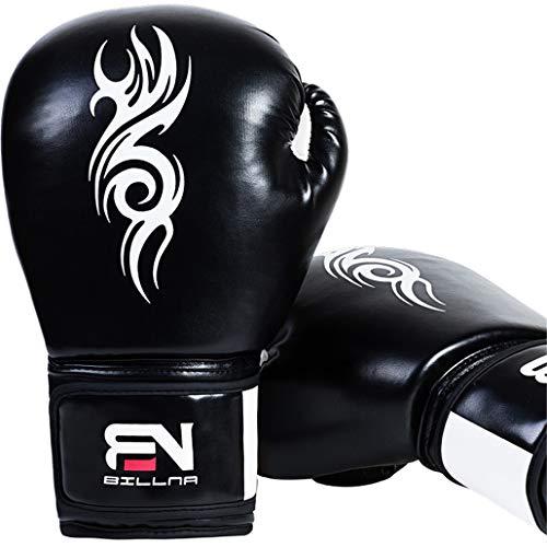 Adult Boxing Supplies Free Fight Kämpfen Fitnesstraining Wettbewerb großen Profi-Mesh-Breathable PU Boxhandschuhe Leder Thai Boxen Ausrüstungen Stanzen,Schwarz,12oz