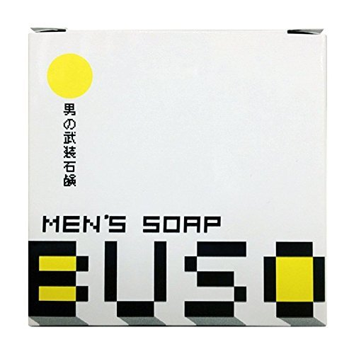 男性美容石鹸 BUSO 武装 メンズソープ 1個 (泡立てネット付き)