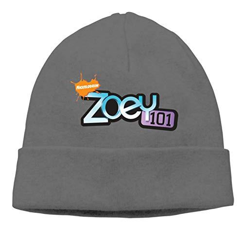 AAVTT Zo-E-Y 101 Logo Unisex Thin Winter Warm No-Brimmed Knitted Hat Skull Cap Deep Heather