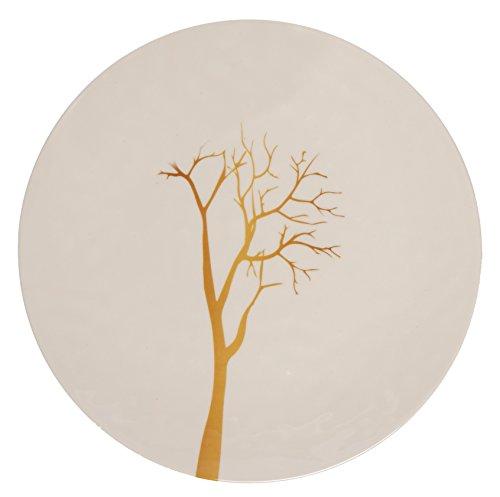 Melange 6-Piece 100% Melamine Dinner Plate Set (Gold Tree Collection )   Shatter-Proof and Chip-Resistant Melamine Dinner Plates