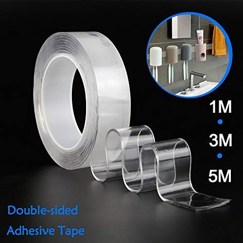 ADSIKOOJF Nano magische tape dubbelzijdige lijm Nano Traceless Tape Verwijderbare Sticker Wasbare Lus Schijven Tie Lijm Gadget