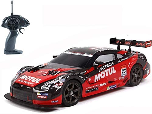 ZHLFDC 1/16 Remote Super GT RC Sport Racing Drift Car, Control Car for Adults Kids Gifts, 30km/h 4WD RTR Vehicle with Drift Tires - Red