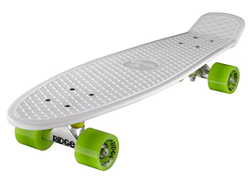 Ridge Skateboard Big Brother Nickel 69 cm Mini Cruiser, weiß/grün