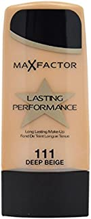 Max Factor Performance Long Lasting Foundation, No. 111 Deep Beige, 1.1 Ounce