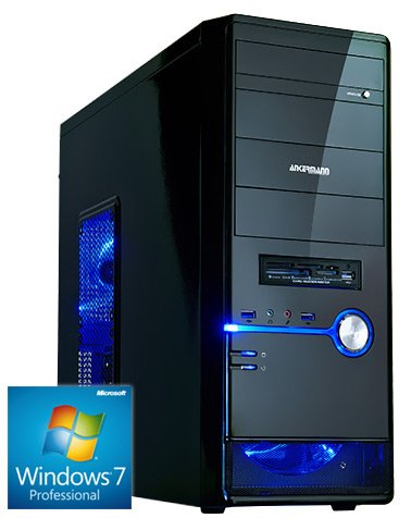 Ankermann-PC., MSI N770-2GD5/OC GeForce GTX 770 2GB, Windows 7 Professional 64 Bit, Kingston SSDNow V300 240GB, 8 GB RAM, 24x DVD-RW Writer-, 650W 80+ Bronze NT, Card Reader, Art.Nr.: 28393, EAN: 4260219650458