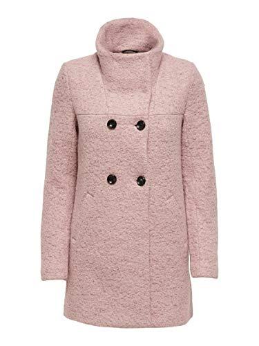 ONLY Abrigo de lana para mujer. Burlwood. M