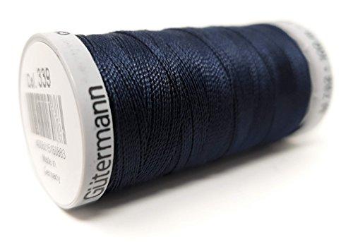 Gütermann Garn Extra Stark Nähgarn Polyester 100m Nähmaschinengarn Universal Reißfest FarbNr: 339 (Blau, 1)