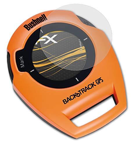 atFoliX Película Protectora Compatible con Bushnell BackTrack Lámina Protectora de Pantalla, antirreflejos y amortiguadores FX Protector Película (3X)