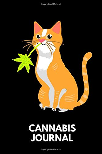 Cannabis Journal: Cannabis Review & Rating Journal / Log Book. Cat with Cannabis Leaf. Great Cannabis Accessories & Novelty Gift Idea for medical & personal cannabis tasting.