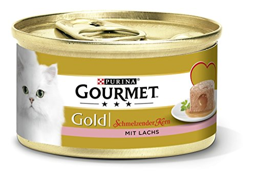 Purina Gourmet Gold Fondant: Comida húmeda para Gatos Adultos, paté con núcleo de Salsa, cantidad: 12 Unidades (12 x 85 g)