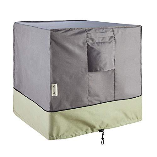 Leyue Silla de Patio Cubre Cubiertas de Muebles de Exterior. Cubierta a Prueba de Agua y Aire Acondicionado para Unidades Exteriores