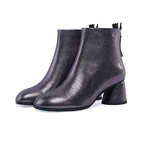 YaXuan Women's Booties,Winter Snow Ankle Martins Boots Female Leather Booties Lady Cute Dress Pointed Toe Shoes (Color : B, Size : 39)