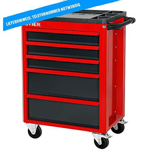 STIER Werkstattwagen Basic+, mit Kunststoffabdeckung, unbestückt – leer, Werkzeugwagen – Montagewagen, Max. Belastung - 7
