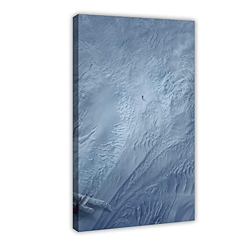 Artic, 1 poster su tela, decorazione da parete, per soggiorno, camera da letto, cornice: 40 x 60 cm