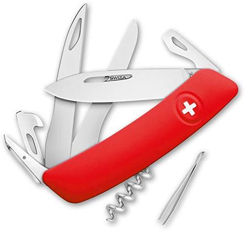Swiza Herren D07 Taschenmesser, rot, 17 cm