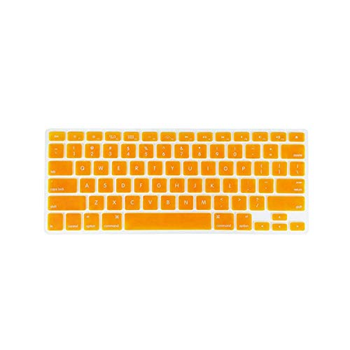 Keyboard Soft Case for MacBook Air Pro 13/15/17 inches Cover Protector-Orange-