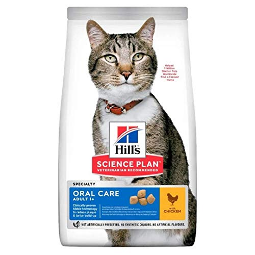 Hill's Science Plan Adult Oral Care Dry Cat Food Chicken Flavour 7kg...