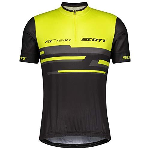 Scott RC Team 20 Fahrrad Trikot kurz schwarz/gelb 2021: Größe: M (46/48)