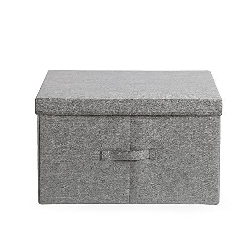 Aufbewahrungsbox mit Deckel - aufbewahrungstasche waschbär grau -aufbewahrungskörbe stoff - 1 stk, faltbare Stoffboxen mit Griffen, zur Aufbewahrung von Kleidung (45x35x25)