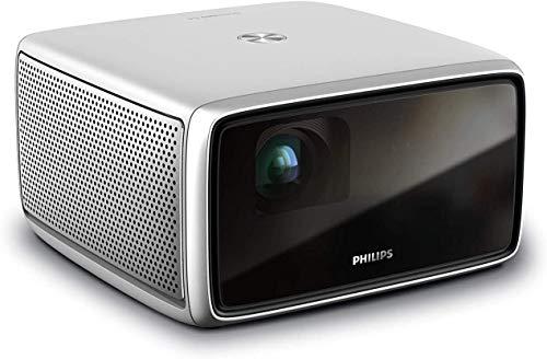 Philips Screeneo S4, All-in-one-Heimkinoprojektor mit Full HD, HDR, Short Throw, Bildgröße bis zu 120″, bis zu 1.800 Farblumen, Android-Betriebssystem, Apps, Auto-Keystone, Autofokus, Digitalzoom