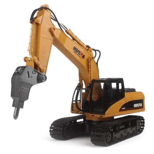 WANGCH Máquina de demolición eléctrica de 16 canales 2.4G Vehículo de ingeniería para niños Control remoto Coche de juguete de aleación Modelo 1:14 Excavadora de camiones de construcción Excavadora RC