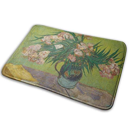 Türmatte Außen, Innen Fußmatte Vordertürmatte Rutschfeste Fußmatten Zoll Oleers von Vincent Van Gogh 1888 Niederländisches postimpressionistisches Öl auf Leinwand Die Blumen füllen Majolika-Krug