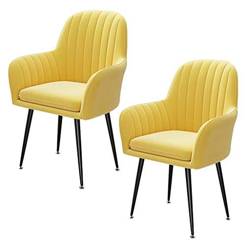 N/Z Wohnausstattung Retro Esszimmerstühle Set Sofa Stuhl Sessel mit hoher Rückenlehne Metallbeine Küchenstühle mit Rückenlehne und Sitzfläche für die Freizeit Wohnzimmer Empfangsstühle (Farbe: Pink)