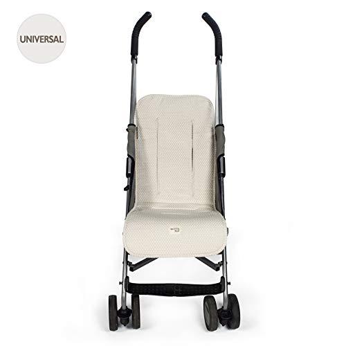 Walking Mum Happy Chic - Colchoneta para silla de paseo, color beige