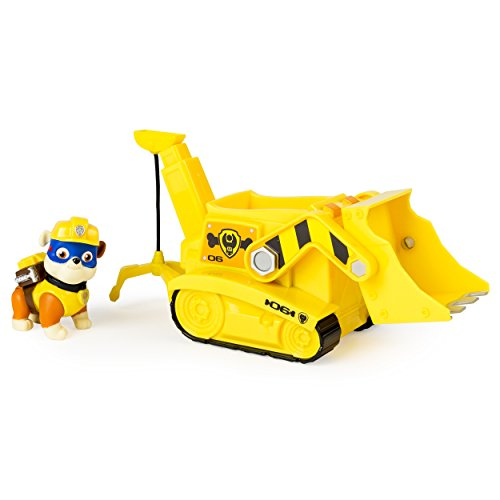 Paw Patrol Pup and Vehicle - Super Pup Rubble's Crane Basic Vehicle- Spinmaster