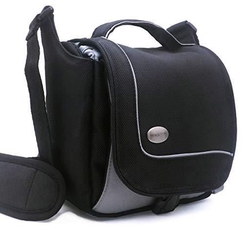Baxxtar Sportsbag Kameratasche schwarz - kompatibel mit Panasonic DC FZ82 DMC FZ2000 FZ1000 FZ300 FZ72 - Sony RX10 III IV HX400 Alpha 7c - Canon SX70HS SX540HS