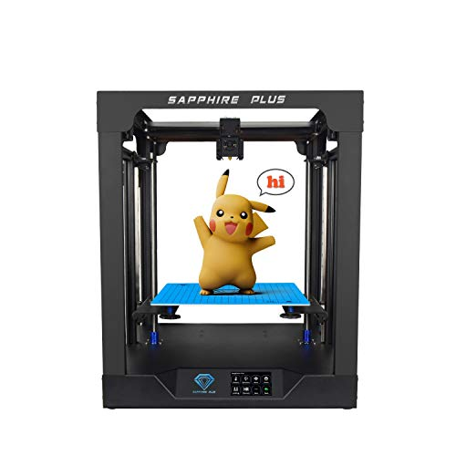 Two Trees Sapphire Plus Core XY 300300350mm Printing Size 3D Printer with Full Metal Body/Double Linear Guide/BMG Extruder/Power Resume/Filament Detect/Auto Leveling DIY 3D Printer Kit