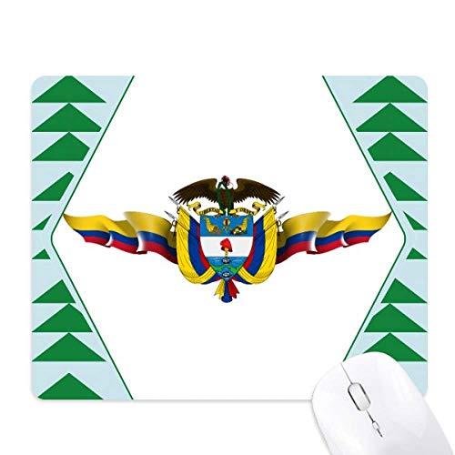 Amerika Colombia vlag nationale embleem muismat groene dennenboom rubberen mat